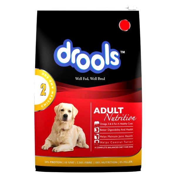 Drools adult chicken & egg 3.0 kg + 800g Free