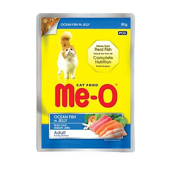 Me-o pouch ocean fish in jelly 80g