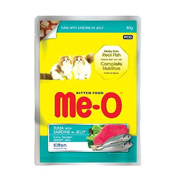 Me-o kitten pouch tuna with sardine in jelly 80g